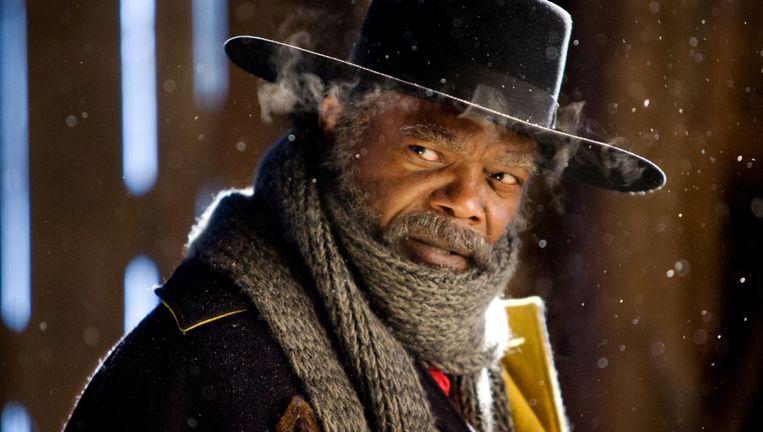 Samuel L. Jackson in 'The Hateful Eight'. Beeld AP