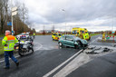 Gewonde bij ongeval op provinciale weg nabij A1 in Apeldoorn.