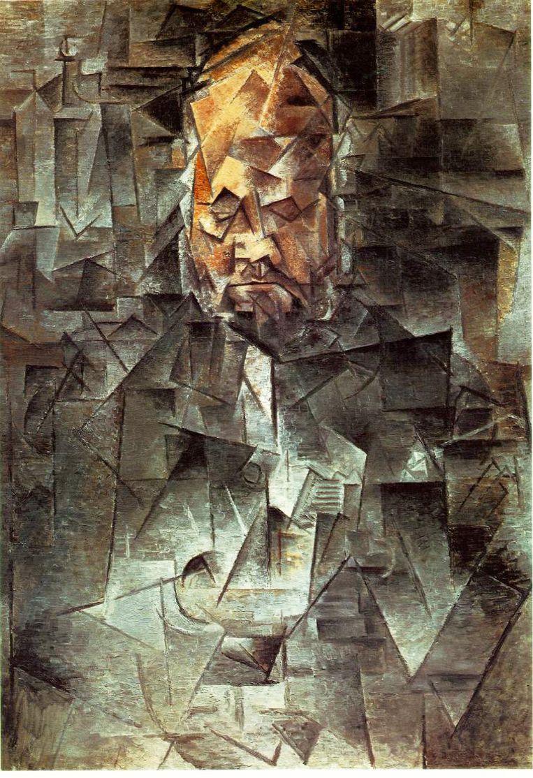 Pablo Picasso portretteert kunsthandelaar Ambroise Vollard Beeld Picasso