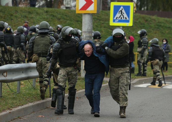 Archiefbeeld van een protest in Minsk.