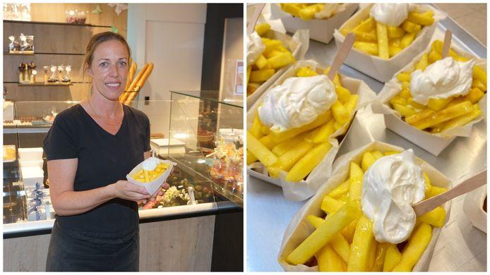 Banketbakkerij Kris uit De Klinge verkoopt frietjes met mayonaise, al smaken ze wat anders dan die van de frituur...