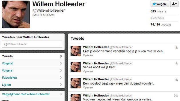De nep-twitteraccount van Holleeder.