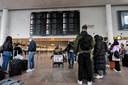 Reizigers op Brussels Airport begin deze maand. Beeld ter illustratie.
