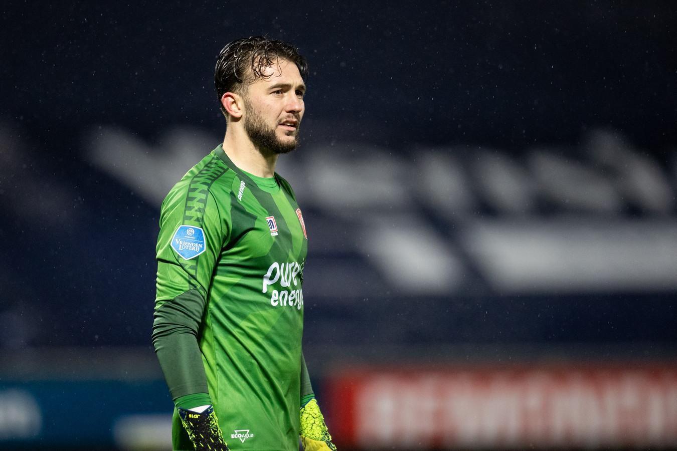 Joël Drommel in het shirt van FC Twente.