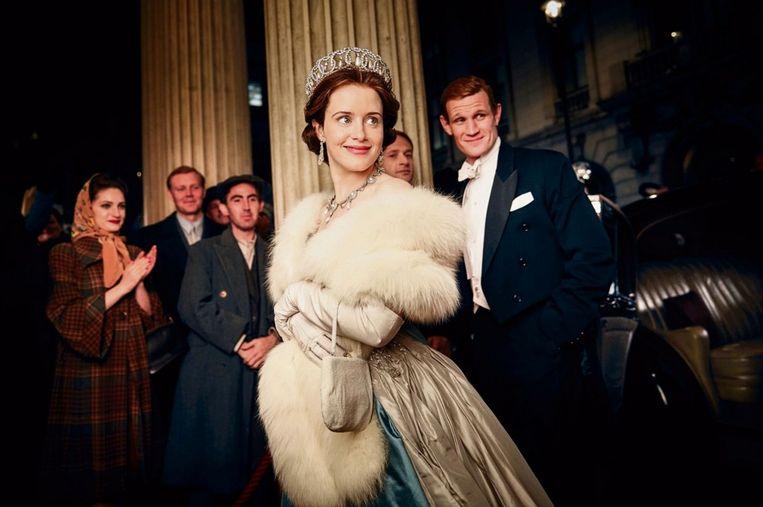 Claire Foy als de jonge Queen in de Netflix-serie 'The Crown'. Beeld Netflix