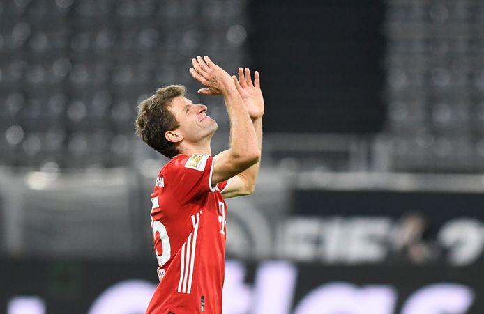 Thomas Müller in actie voor Bayern.