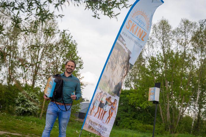 Happy Skinz, de start-up van onder anderen Bakelnaar Jan Verberkt, speelt in het Nationaal Actie Plan huidkanker een voorname rol bij het beschermen van groepen mensen tegen zonnebrand tijdens festivals en buitensportevenementen.
