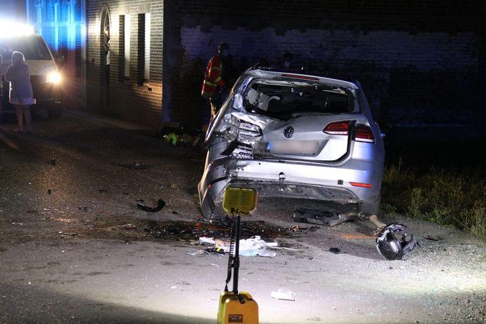 De schade na het ongeval was groot.