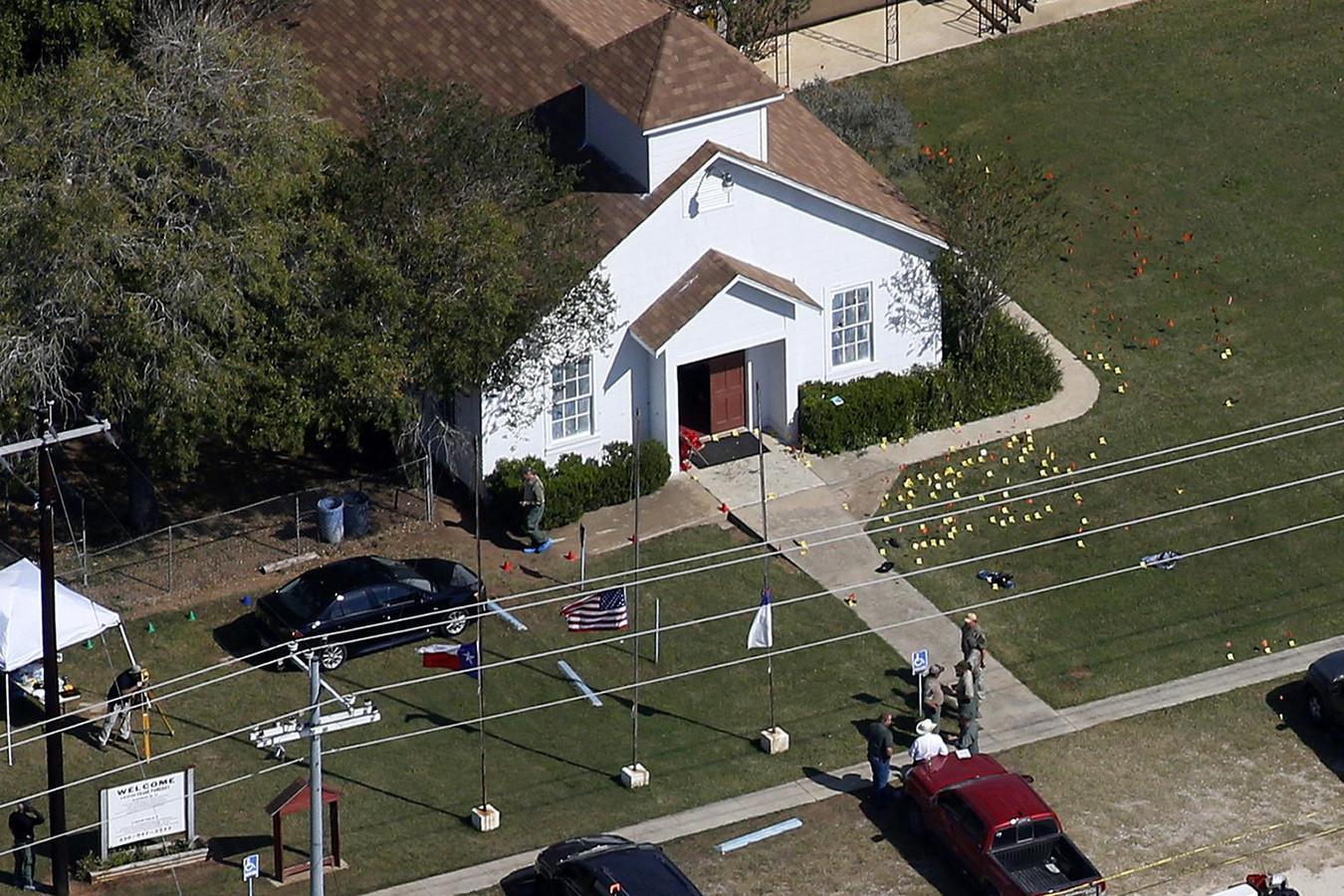 De schietpartij vond plaats in de First Baptist Church in Sutherland Springs, Texas, op 6 november 2017.