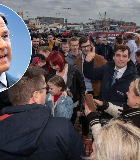 Rutte over massaal handen schudden van Baudet op Urk: 'uitermate onverstandig'