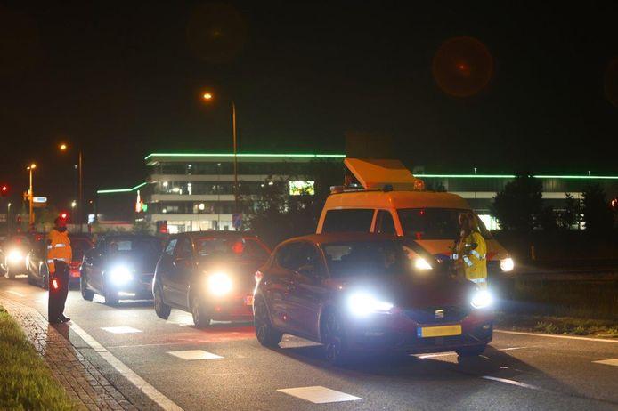 De politie startte de controle zaterdagavond om 23.00 uur.