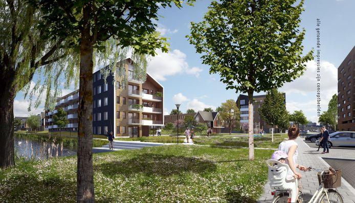 De Harmonie in Capelle. De nieuwbouwwijk komt op de plek van de Hoven.