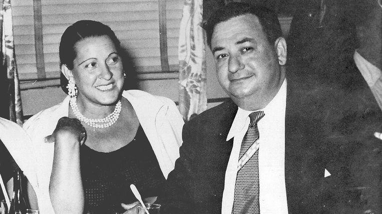 Russ en Mary Shorto  in de jaren vijftig, in Club Harlem in gokstad Atlantic City. Beeld Russell Shorto / RV