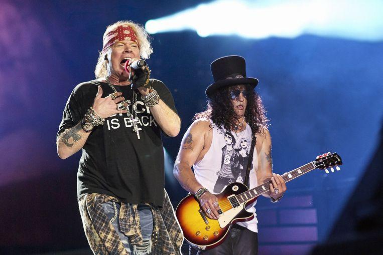 Axl Rose, frontman van Guns N' Roses, blijkt een meester in de directe communicatie.  Beeld BELGAIMAGE