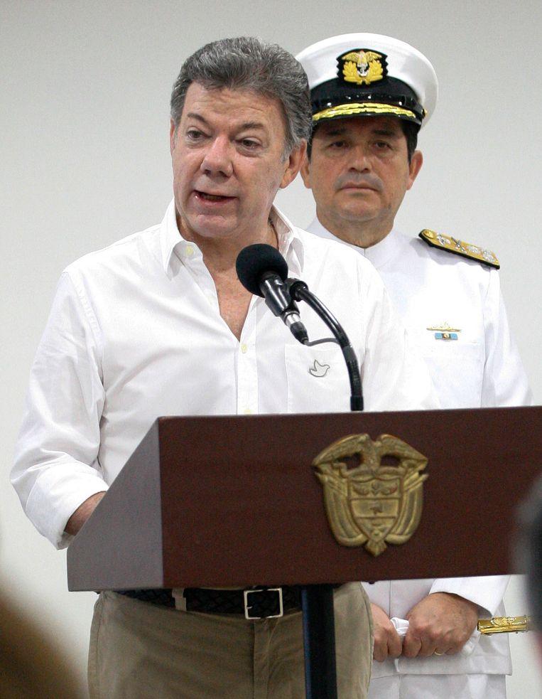 Colombiaanse president Juan Manuel Santos.