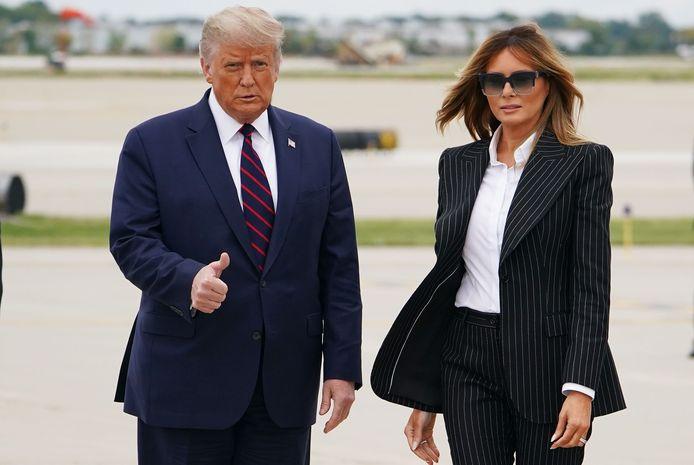 Donald et Melania Trump à Cleveland le 29 septembre dernier.