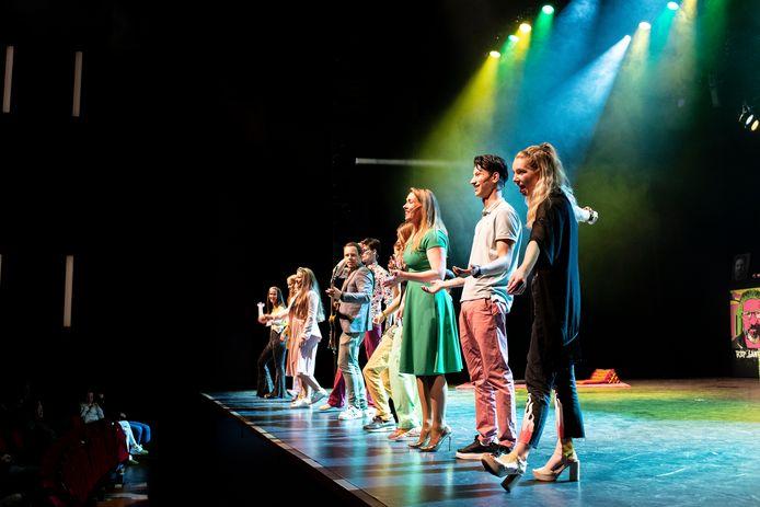 De première van het muziektheaterstuk 'De Soos' in Cuijk.