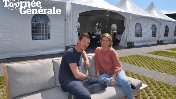Kevin en Barbara van restaurant De Bakermat plaatsen tent in tuin en gooien het over een andere boeg: Uitgebreide menu's maken plaats voor foodsharing-concept met tapas