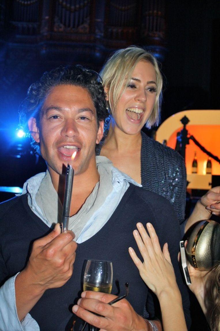 Goodiebag girl Karlijn Visser en personal shopper Bodo Breg stelen de  show.<br /> Beeld