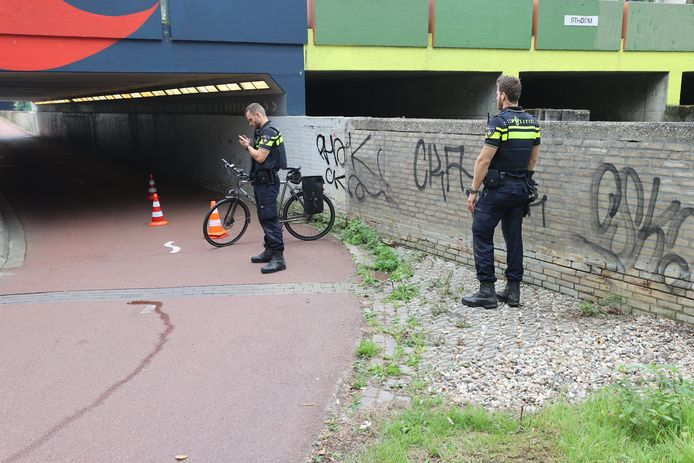 Ongeluk bij Dommeltunneltje in Eindhoven.