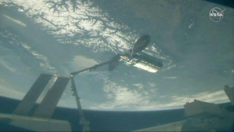 De cargo is vandaag bij het ISS aangekomen.