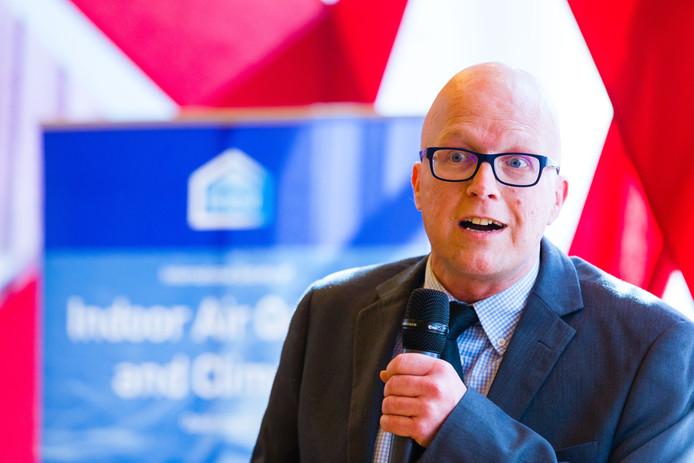 Marcel Loomans, ISIAQ, tijdens congres op TU Eindhoven.