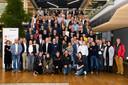 Zo'n 120 vertegenwoordigers uit het onderwijs en bedrijfsleven bezochten de startbijeenkomst van het project Sterk Techniekonderwijs bij Vanderlande in Veghel.