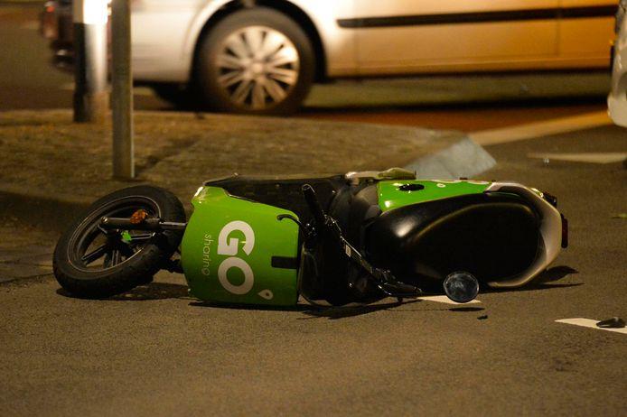 Desbetreffende scooter.