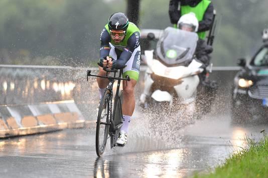 Sagan reed als laatste door de Voorburgse plassen.
