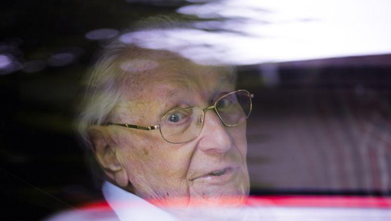 Oskar Gröning vorige week vlak voor de uitspraak. Beeld null