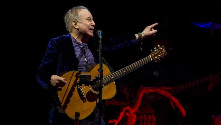 De Amerikaanse folk-zanger Paul Simon tijdens een eerder optreden in de Ziggo Dome. Beeld anp