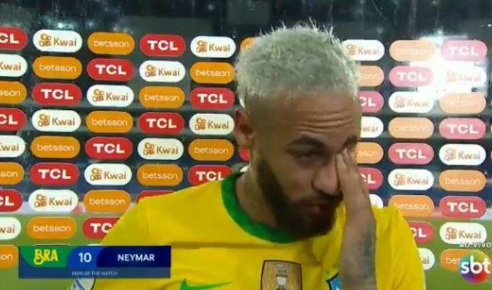 Neymar après Brésil-Pérou