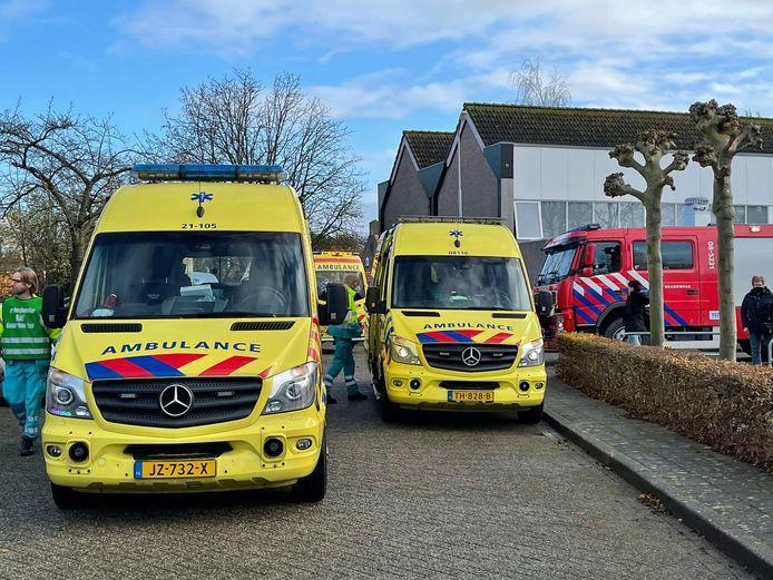 Hulpdiensten rukken uit naar een brand in Hedel.