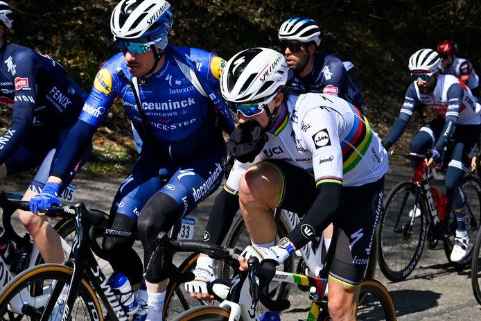 Dries Devenyns in Luik-Bastenaken-Luik aan de zijde van wereldkampioen Julian Alaphilippe: beiden beginnen zondag aan de Ronde van Zwitserland.