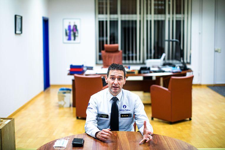 Jurgen De Landsheer, korpschef van de politiezone Zuid: 'Dit doet het imago van de politie geen goed.' Beeld Bas Bogaerts
