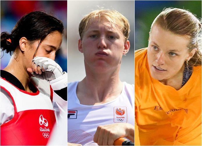 Reshmi Oogink, Finn Florijn en Candy Jacobs moesten tijdens de Spelen verplicht een 'coronahotel' in .