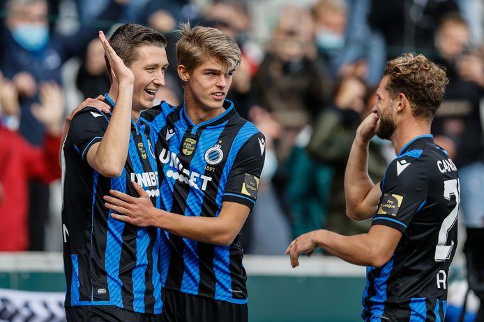 Cinquième victoire consécutive pour le Club de Bruges, qui se rapproche du Sporting de Charleroi en tête de classement.