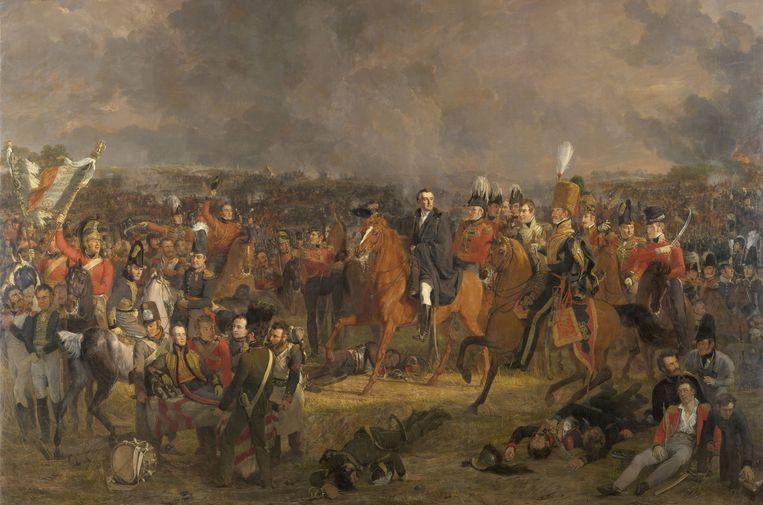 De Slag bij Waterloo, geschilderd door Jan Willem Pieneman, 1824. Collectie Rijksmuseum, Amsterdam. Beeld Getty