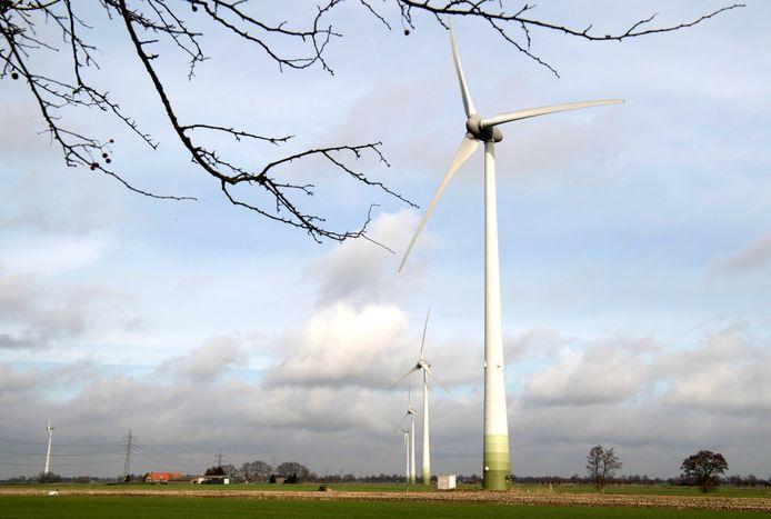 Windmolens aan de Meele bij Nieuwleusen.