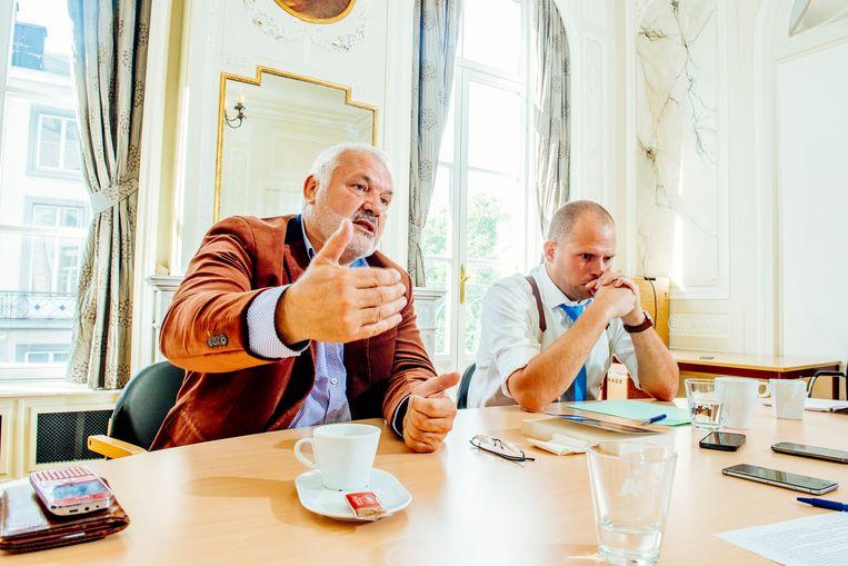 Dedecker (l.) en Francken (r.) Beeld Stefaan Temmerman
