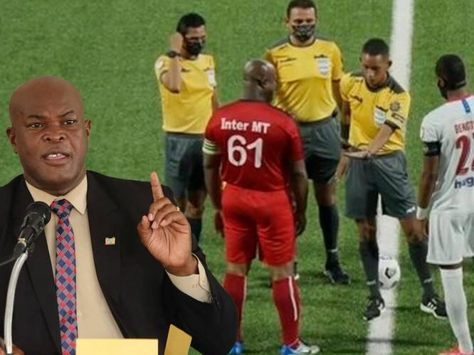 Bond stelt onderzoek in naar voetballende vicepresident Suriname (60)