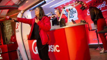 Q-Music ochtendtrio maakt live radio in Sint-Elisabeth Instituut in Merksem