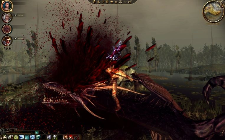 Dragon Age 2 geeft een geheel nieuwe betekenis aan het begrip bloedvergieten. Beeld