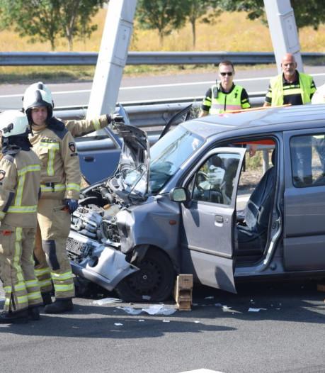 Zwaargewonde bij ongeluk op A32 bij Meppel