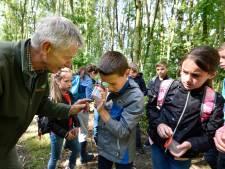 Natuurwijzer laat kinderen enthousiast speuren naar dieren in Bentwoud