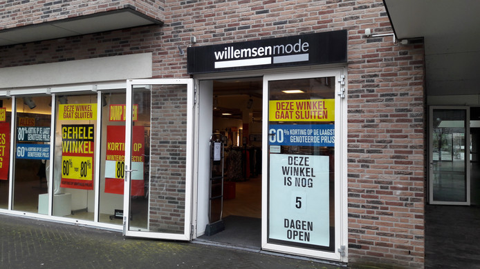 In het pand van het failliete Willemsen Mode in Groesbeek opent in april Jola Mode.