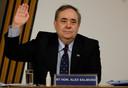 Alex Salmond verscheen vorige week vrijdag voor een commissie om zijn verhaal te doen.