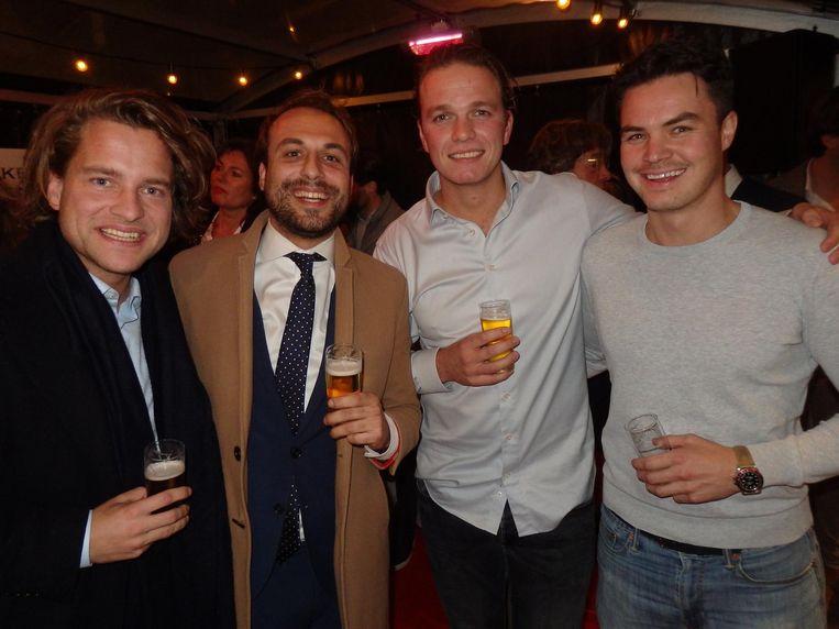 Maurits Kuiper en Frank de Graaf (DRS Real Estate) met Folkert van der Linden en Alexander Tan (Onevests).