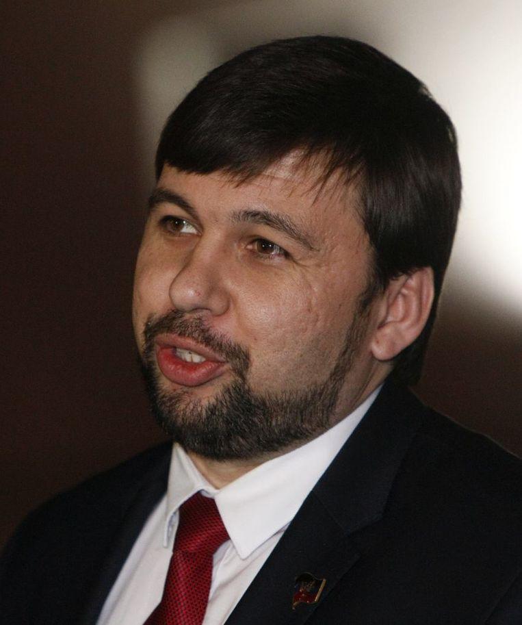 Vertegenwoordiger van de pro-Russische separatisten in Donetsk, Denis Poesjilin. Beeld reuters
