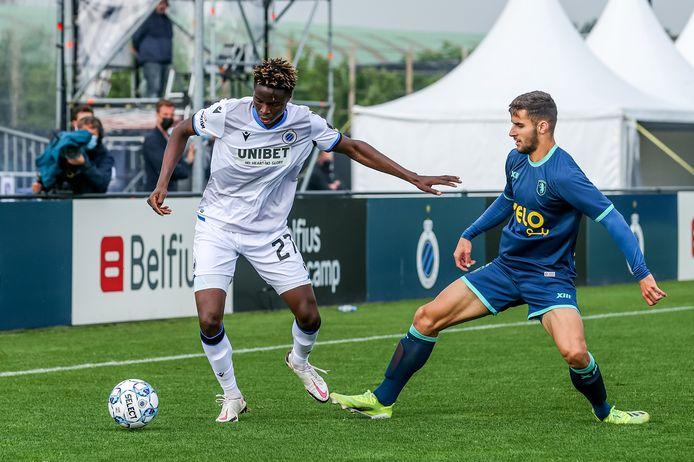Apostolos Konstantopoulos in een eerdere oefenmatch tegen Club Brugge.